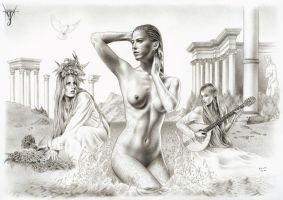 VENUS ANADIOMENA - THE BIRTH OF VENUS by jairolago