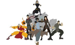 LoK: Poster - WIP - Flats by StarbuckViper