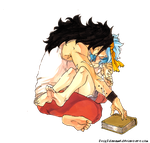 Levy and Gajeel Render by fvckfdaname