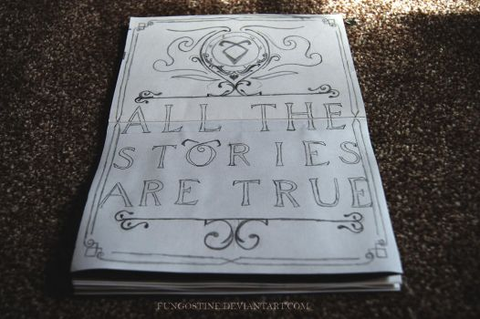 Typography #6 | All The Stories Are True by fungostine