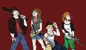 Zombie Killers...or whatever.. by sliplol