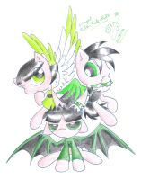 PPG Pony: Winged Greens by Winged-Dragoness