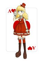 Ace of Hearts by cajime