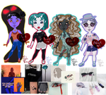 Aesthetic Monsters Adopts [OPEN 2/4] by AngelicVortex