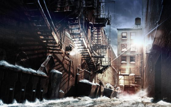 Matte Painting - Montreal Alley by Olivier-Ventura
