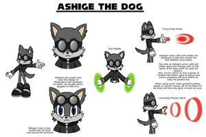 Ashige The Dog - FC Reference Sheet by Hexidextrous