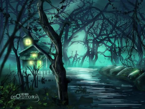 Bosque-painting by pedromorillas