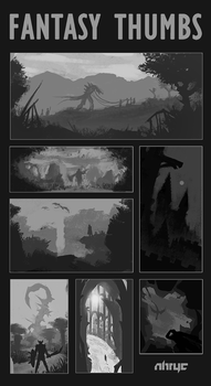 Fantasy Thumbnails (FB uploads) by nirryc