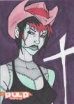 PulpGirls Sketch Card Stitches by MyDyingRose