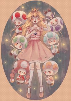 Toadstool Princess by DrawKill