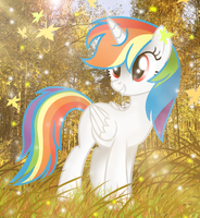 Art Trade | TheRealWhiteRainbow0 by BloodLover2222