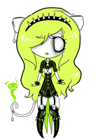 Toxic Kitten Adoptable CLOSED by Radioactivitii