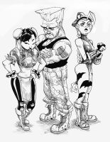 Chun li, Guile and Cammy by Ro-ol
