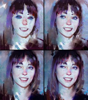 Angel Olsen Colour Study - Process by AaronGriffinArt