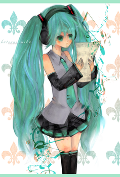 Hatsune Miku Singing by honeypotato