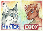 Rainbow badges by Canis-Infernalis