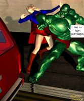 Not so fast, Supergirl by CaptainZammo