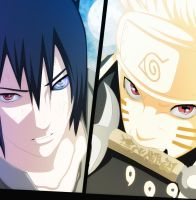 Naruto 673    Naruto And Sasuke by groooom