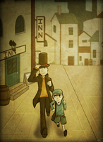 Professor Layton by Tuooneo