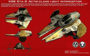Eta-2 Actis-class light interceptor ortho [New] by unusualsuspex