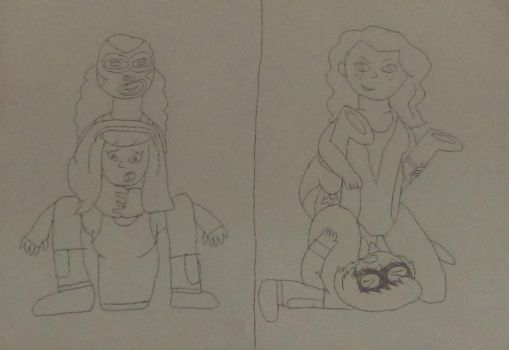 Daphne and Velma vs The Rosenfeld Twins 1 by sonicranger2
