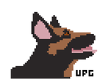 Pixel Drawing of Dogmeat by umbrephlosion
