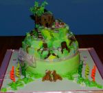 wooden house - cake by rosecake