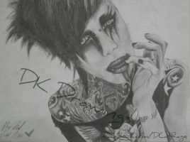 Jayy Von Monroe drawing 2 by DCatRage