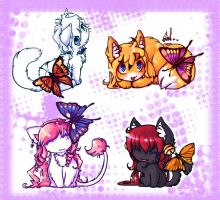 Cats and Butterflies 01 by Kurohi-tyan