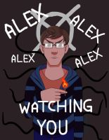 Alex watching you by kittyface18