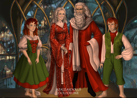 Santa Claus, Mrs Claus and Elves by menolikee