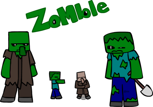 how to draw a minecraft zombie in 5 seconds