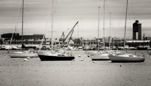 Boats in the Harbor by The-Satchmoe