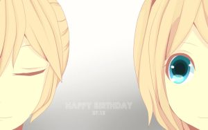 Happy Birthday to Kagamine Twins by JiLL29