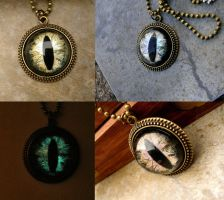 Tiger's Eye - Glow in the Dark Pendant by LadyPirotessa