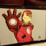 Iron Man - Layered Paper Cut Art Piece by blackdog393