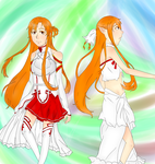 Double Life - Asuna - Sword Art Online by GhostStoryMaster