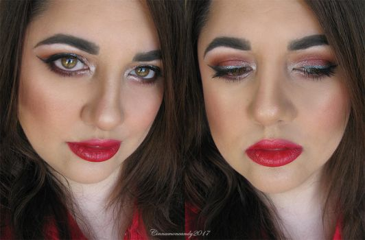 Super Bowl Makeup - Atlanta Falcons by Cinnamoncandy