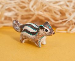 Indian palm squirrel totem. by lifedancecreations