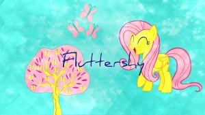 New Fluttershy Wallpaper by THE-Fluffy-Fox