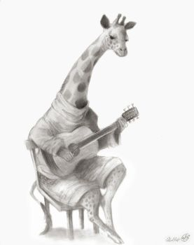 Giraffe With Guitar by polvoice