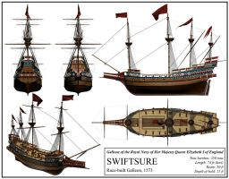 English Ship 'Swiftsure' by DeviantKaled