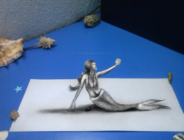 3D mermaid by lihnida