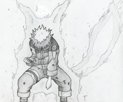Naruto - demon fox by Hand-Drawn