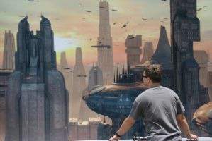 Looking over Coruscant by Xelku9