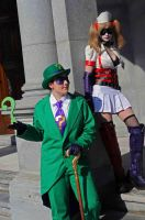 The Riddler and Harley Quinn by popecerebus