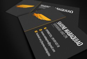 Dark-themed Business Card by jovargaylan