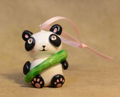 Kawaii Baby Panda Clay Ornament Charm by illuminatedface