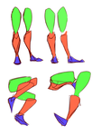 Legs Simple Shapes Pt1 by lwyn