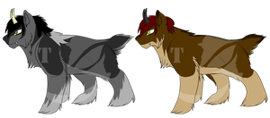 Shelak Draw to Adopt Species Examples by AmzyTheChangeling